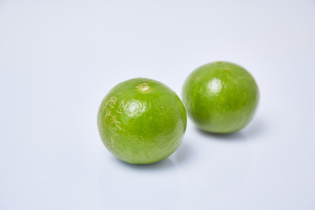 vesicles: Limes on white background Stock Photo