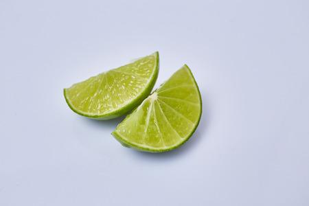 vesicles: Limes slice on white background