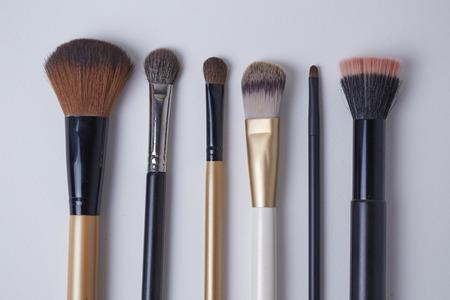 Group of brush set on white background