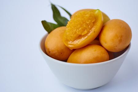 Marian plum on white background Stockfoto - 115339540