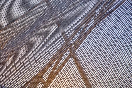 Abstract aluminium line