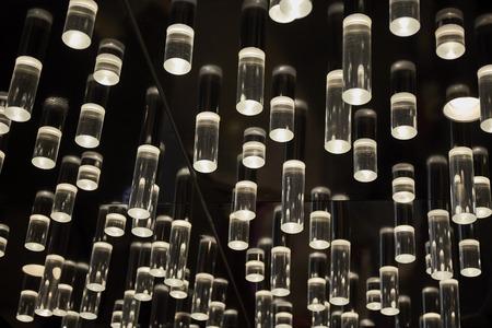 Hanging modern illuminate light on ceiling