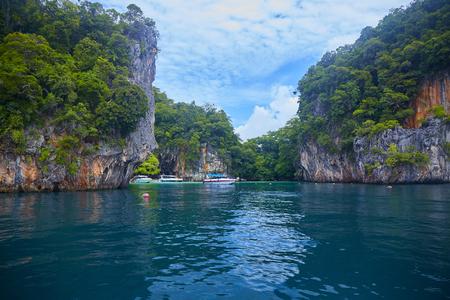 Tropical paradise  lagoon Фото со стока