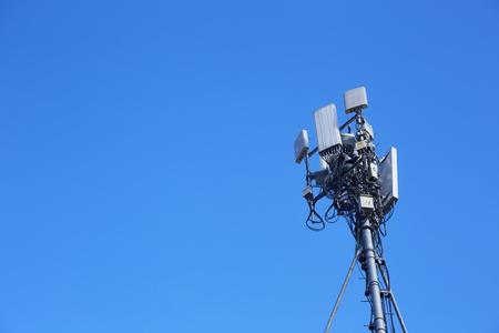 Telecommunication antenna with blue sky