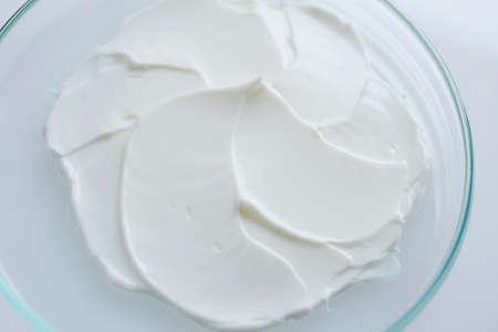 Cosmetics cream in petri dish