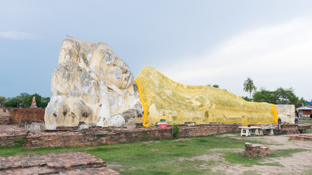 remains: ancient remains Buddha action sleep Editorial
