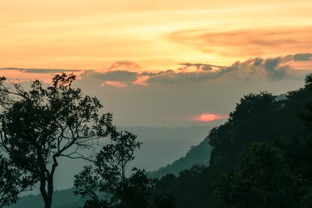 phukradueng: Sunrise Stock Photo