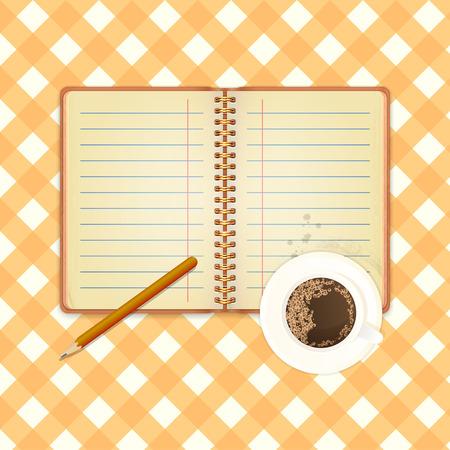 cuaderno espiral: Inaugurado cuaderno espiral de papel con manchas de caf� y Copa