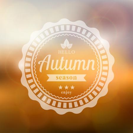 autumn background: Vector autumn background with text hello autumn