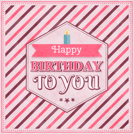 candles: happy birthday card with candle , vector illustration
