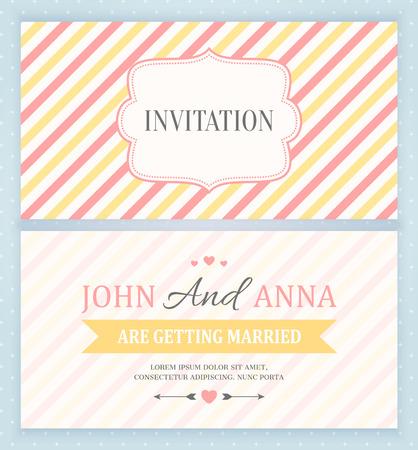 boda back tarjeta de invitación y frontal, ilustración vectorial