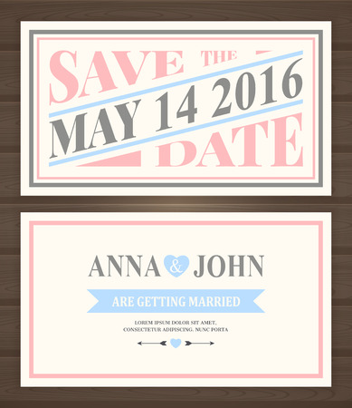 Save the date card, back and front.