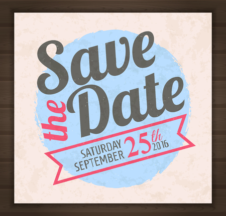 Save the date card. illustration