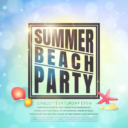 beach party: Summer beach party . Summer background. Illustration