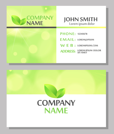 Abstract business card design. Vector illustration