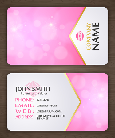 Business card template. Abstract business card design. Vector illustration