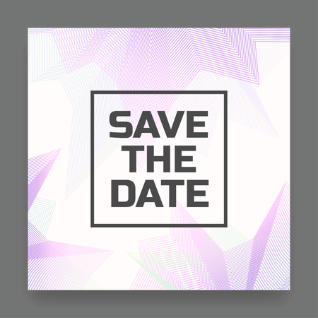 Absrtact save the date card. Abstract universal background. Vector illustration Иллюстрация