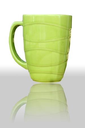 housewares: Reflect Green cute mug