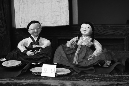 greyscale: Greyscale Korean Doll