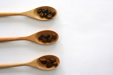 Wooden Spoon with coffee photo