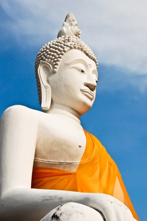 buddha statue at temple in ayuthaya, thailand photo