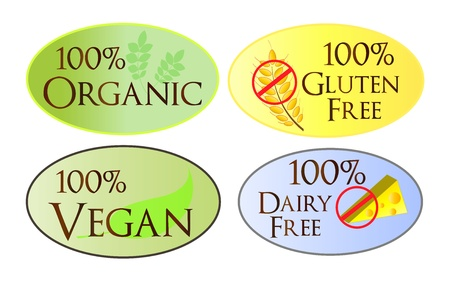 Organic Web Buttons Vector