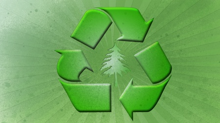 Grungy Recycle Icon photo