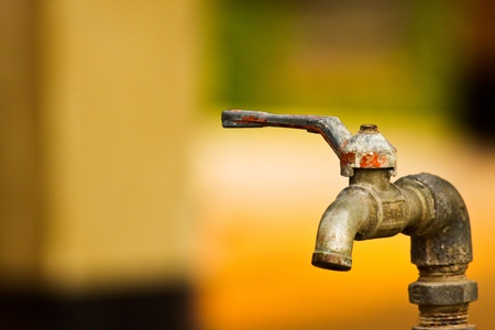 watertap: Old faucet Stock Photo