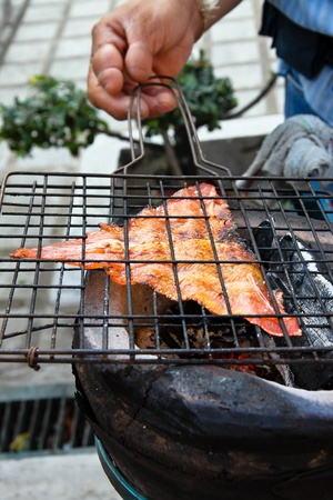 Grilled sweet fish  Stock Photo