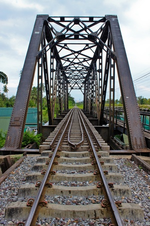 Railway and bridge photo