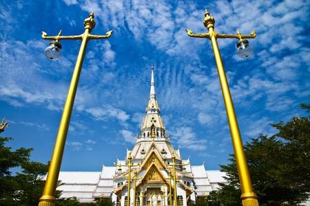 Wat Sothorn with Thai street lamp photo