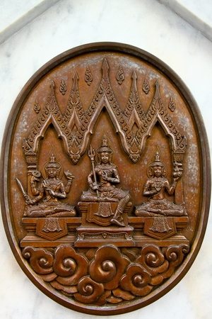 Sculptures of Hindu gods on the wall Stock Photo - 12531090