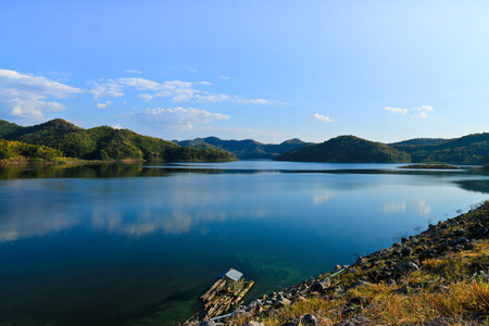 Song reservoir, Thailand. Stock Photo