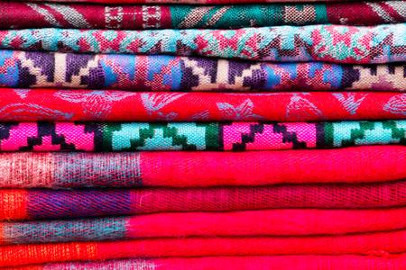 A pattern of fold scarf in Nepal