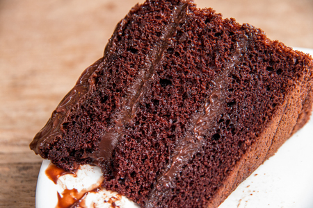 Chocolate cake is very delicious. Stock Photo