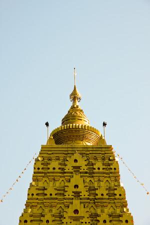 A top of Phuthakaya Pagoda in Sangkhlaburi, Thailand.