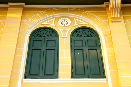 old classic window is close. Stock Photo