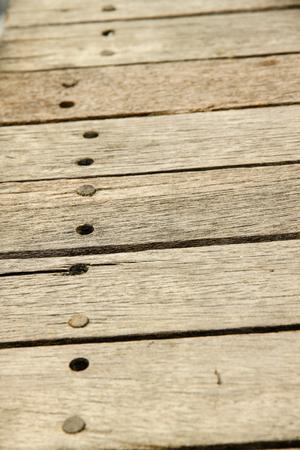 A pattern of wooden bridge.