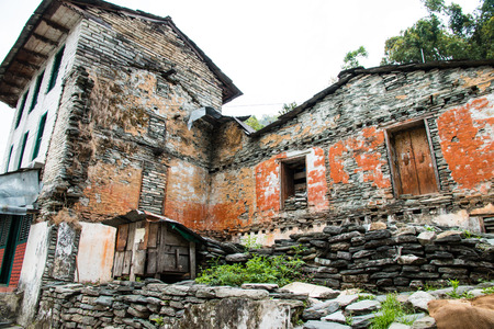 The ancient home in Nepal.