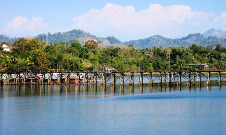 Mon Bridge is the longest wooden bridge in Sangkhlaburi, Kanchanaburi, Thailand.