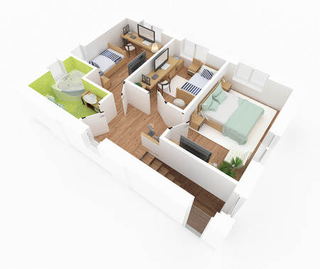 2 floor of furnished house apartment loft