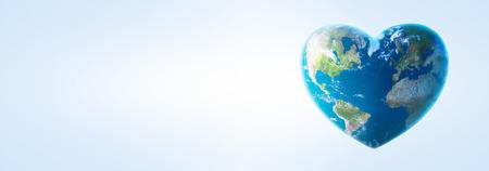 Heart shaped earth 스톡 콘텐츠