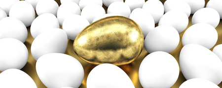 Usual egg among the gonden eggs. Concept of individuality