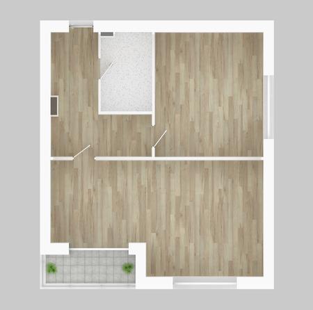 3d model of empty home apartment