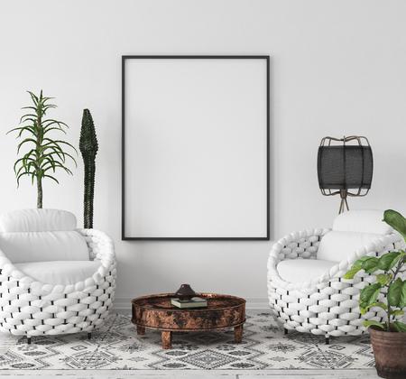 Scandi-Boho style, 3d render