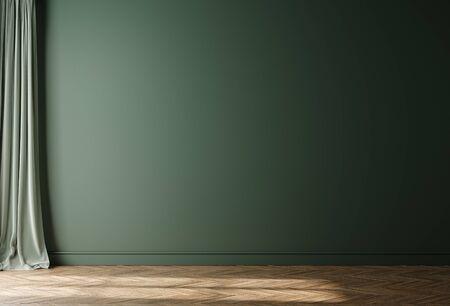 Empty home interior wall mock-up, 3d render