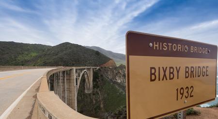 bixby: The famous BIxby bridge on the Pacific Coast Highway in California USA.
