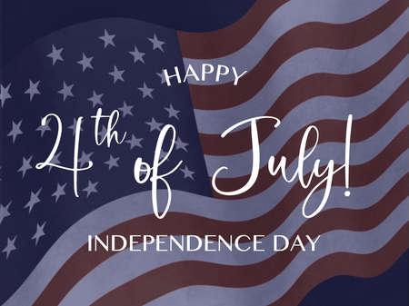 Fourth of July design. Independence Day celebration 版權商用圖片