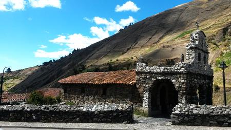 venezuela: Merida Church in Venezuela amid the mountains