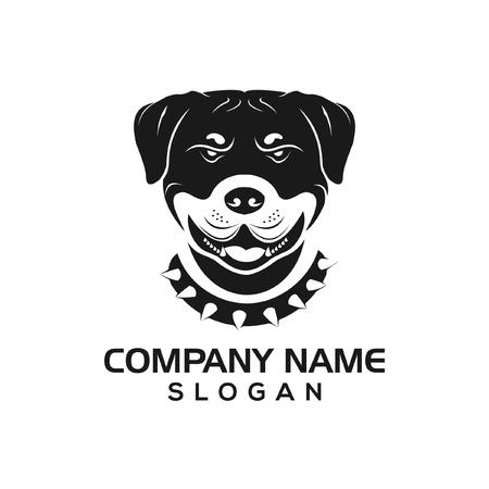 Rottie dog logo icon template